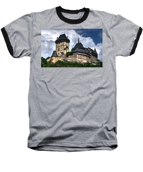 Baseball T-Shirt featuring the photograph Karlstejn Castle In Prague 2 by Joe  Ng