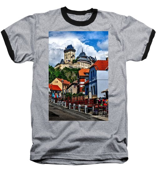Karlstejn Castle In Prague  Baseball T-Shirt