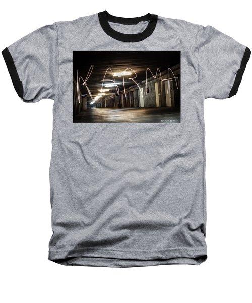 Baseball T-Shirt featuring the photograph Karma Light Painting by Stwayne Keubrick