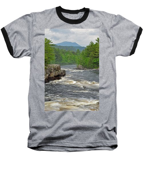 Katahdin And Penobscot River Baseball T-Shirt by Glenn Gordon