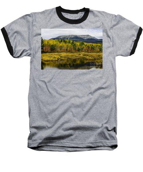 Katahdin Baxter State Park Maine Baseball T-Shirt by Glenn Gordon