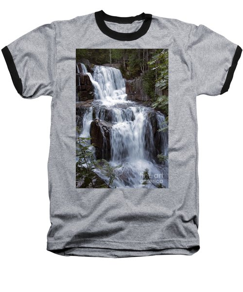 Katahdin Stream Falls Baxter State Park Maine Baseball T-Shirt by Glenn Gordon