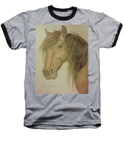 Kathy's Horse Baseball T-Shirt by Christy Saunders Church