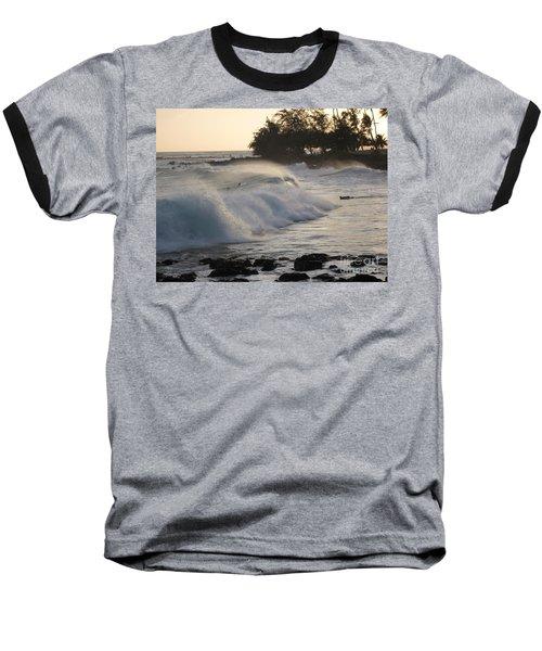 Kauai - Brenecke Beach Surf Baseball T-Shirt by HEVi FineArt
