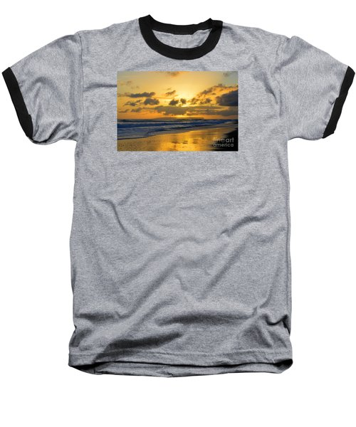 Kauai Sunset With Niihau On The Horizon Baseball T-Shirt
