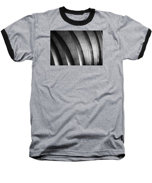 Kauffman Performing Arts Center Black And White Baseball T-Shirt