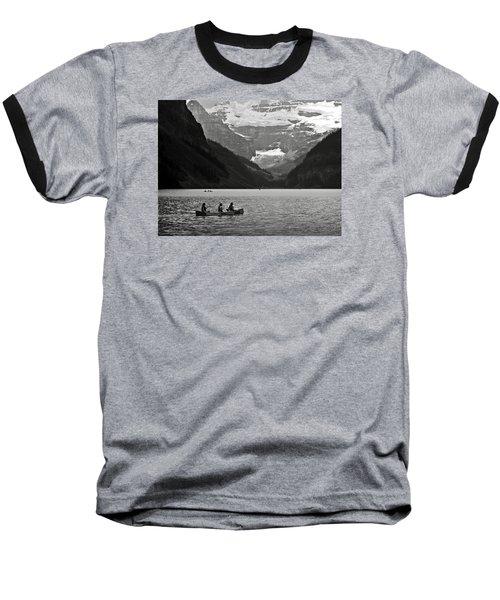 Kayak On Lake Louise Baseball T-Shirt
