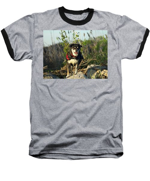 Baseball T-Shirt featuring the photograph Kayaker's Best Friend by James Peterson