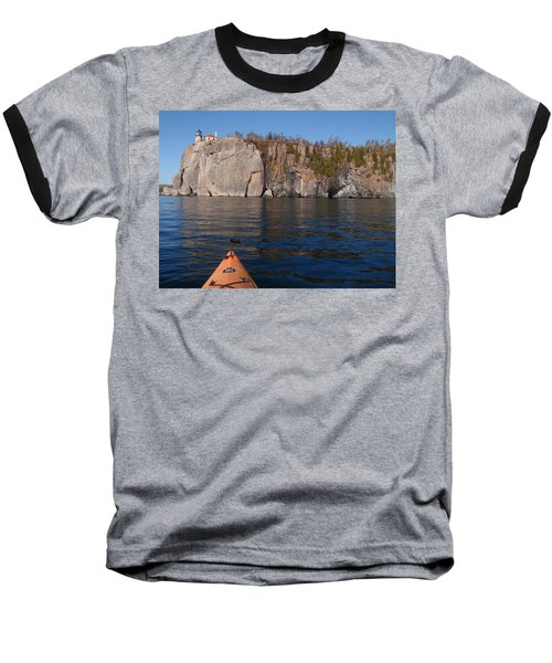 Baseball T-Shirt featuring the photograph Kayaking Beneath The Light by James Peterson