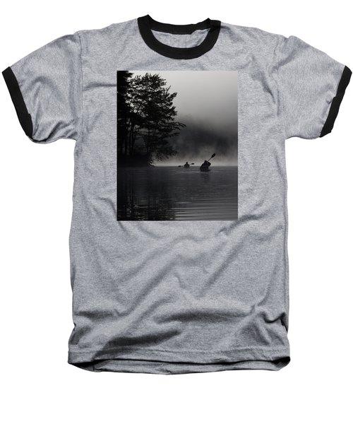 Kayaking In The Fog Baseball T-Shirt