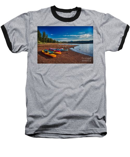 Kayaking On Howard Prairie Lake In Oregon Baseball T-Shirt