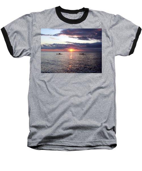 Kayaks At Sunset Baseball T-Shirt