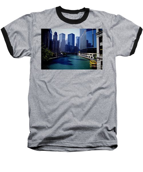 Kayaks On The Chicago River Baseball T-Shirt