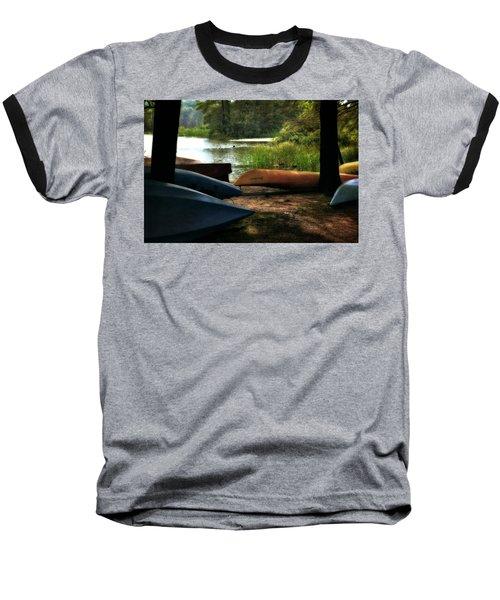 Kayaks On The Shore Baseball T-Shirt