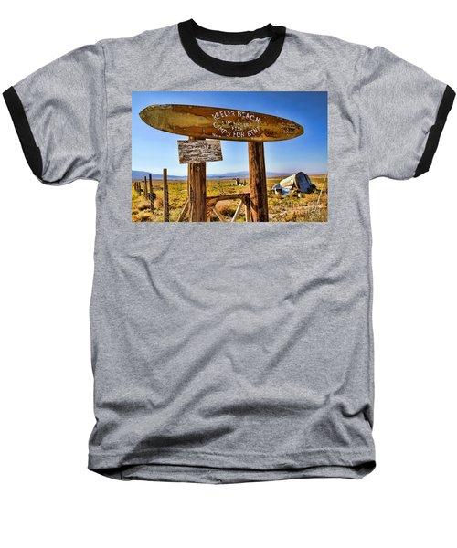Keeler Beach Camping By Diana Sainz Baseball T-Shirt