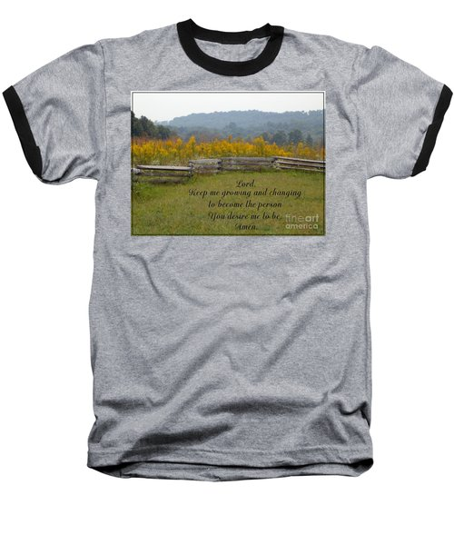 Keep Me Growing Baseball T-Shirt by Sara  Raber