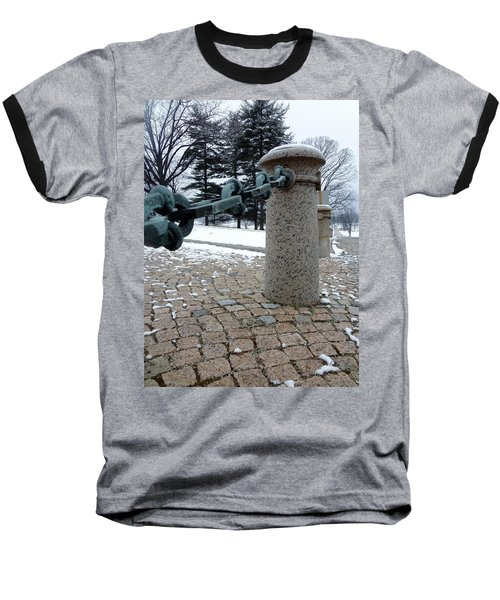 Baseball T-Shirt featuring the photograph Keep Out by Michael Porchik