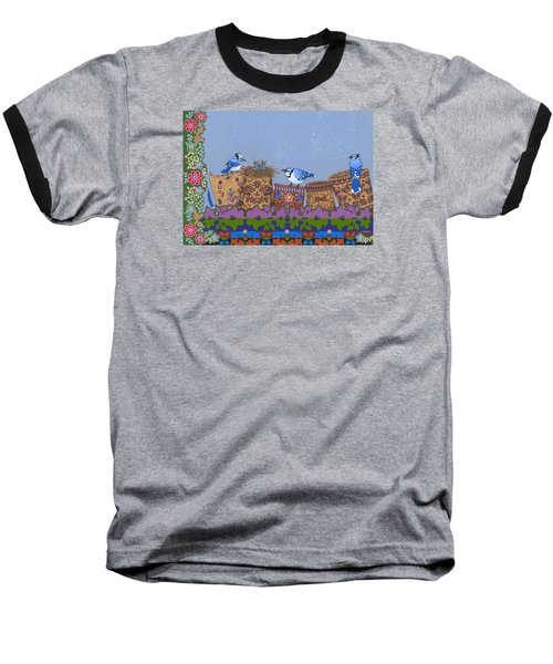 Baseball T-Shirt featuring the painting Keeper Of Songs by Chholing Taha