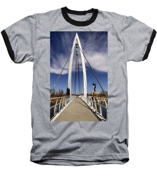 Keeper Of The Plains Bridge View Baseball T-Shirt
