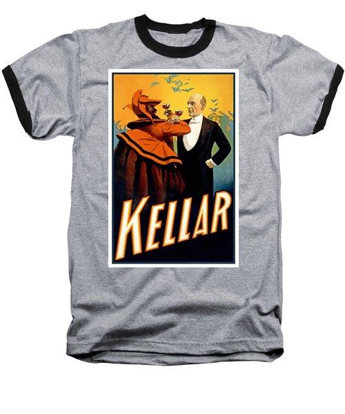 Kellar Toasts The Devil Baseball T-Shirt by Terry Reynoldson