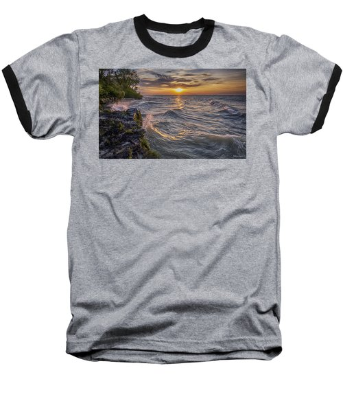 Kelleys Island At Sunset Baseball T-Shirt