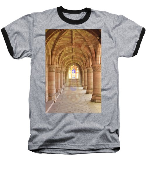 Kelso Abbey Stained Glass Baseball T-Shirt