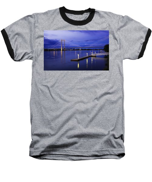Baseball T-Shirt featuring the photograph Kennewick Bridge 2 by Sonya Lang