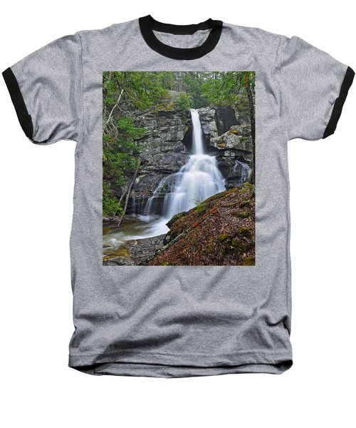 Kent Falls State Park Ct Waterfall Baseball T-Shirt