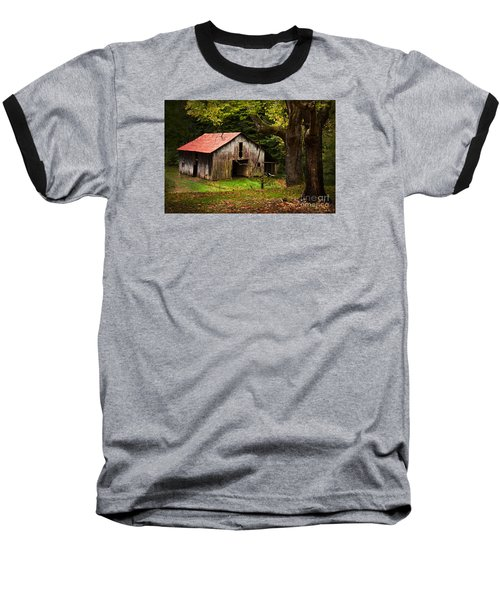 Kentucky Barn Baseball T-Shirt by Lena Auxier