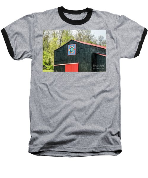 Kentucky Barn Quilt - 2 Baseball T-Shirt