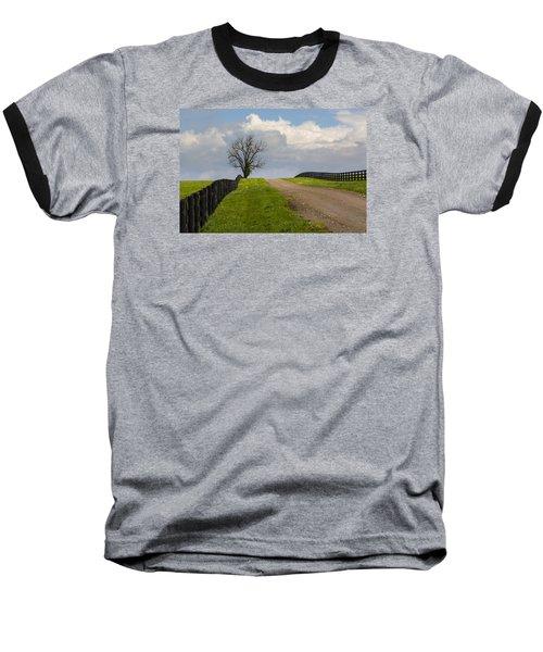 Kentucky Horse Farm Road Baseball T-Shirt