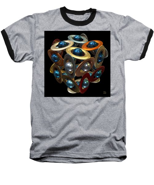 Baseball T-Shirt featuring the digital art Kepler's Dream by Manny Lorenzo