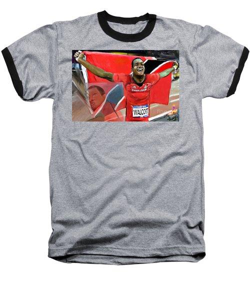 Keshorn Walcott Baseball T-Shirt by Vannetta Ferguson