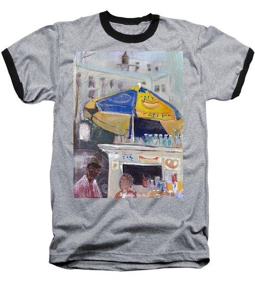 Ketchup Or Mustard Baseball T-Shirt by Leela Payne
