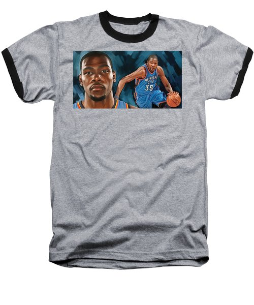 Kevin Durant Artwork Baseball T-Shirt