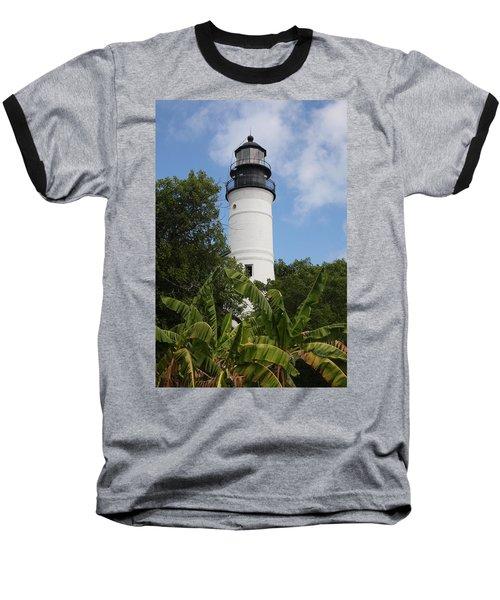 Key West Lighthouse  Baseball T-Shirt by Christiane Schulze Art And Photography