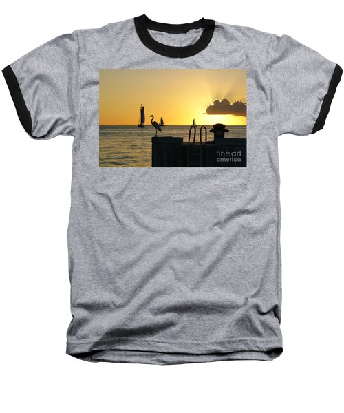 Baseball T-Shirt featuring the photograph Key West Sunset by Olga Hamilton