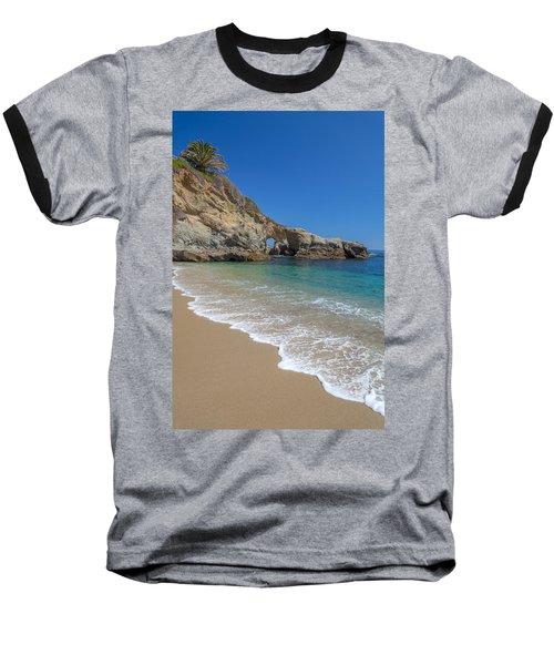 Keyhole Arch Laguna Beach Baseball T-Shirt