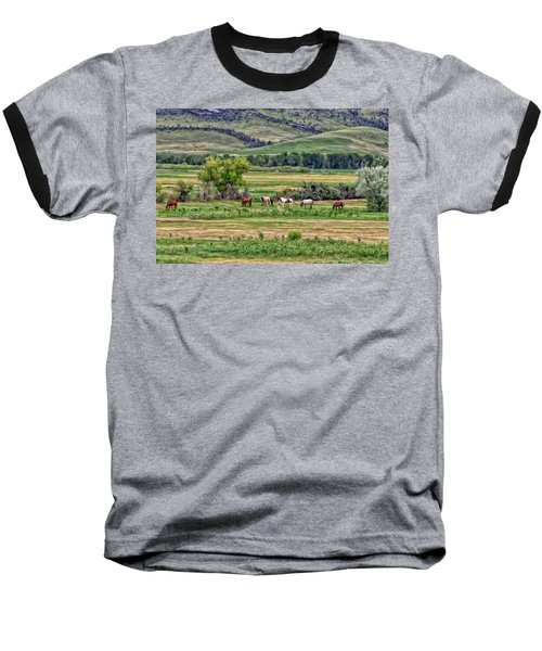 Baseball T-Shirt featuring the painting K G Ranch by Michael Pickett