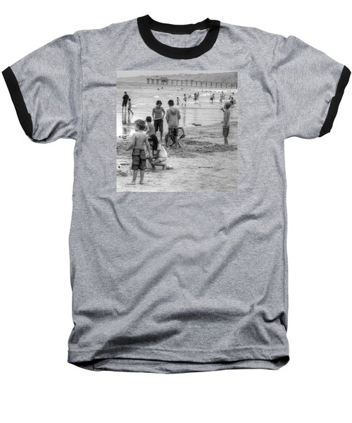 Kids At Beach Baseball T-Shirt