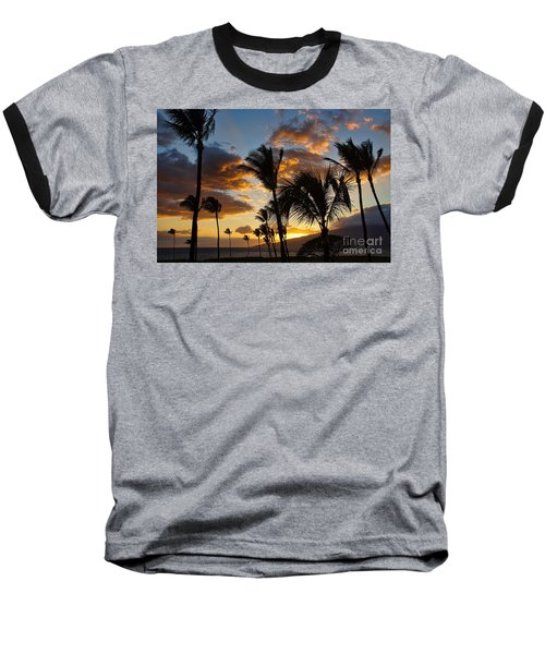 Baseball T-Shirt featuring the photograph Kihei At Dusk by Peggy Hughes