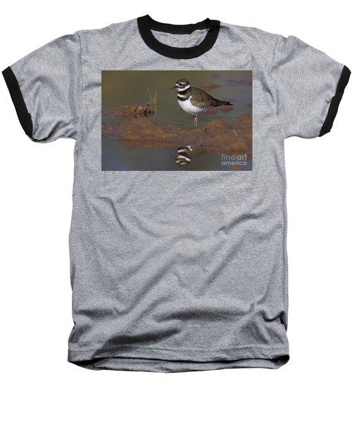 Baseball T-Shirt featuring the photograph Killdeer Reflection by Bryan Keil