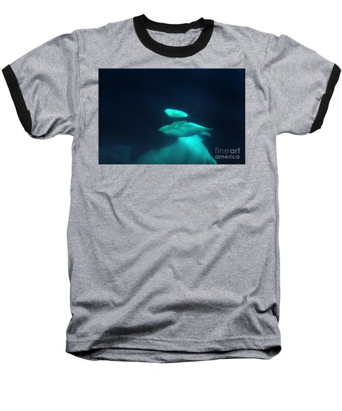 Baseball T-Shirt featuring the photograph Killer Whales Orcas Under Water  Off The San Juan Islands 1986 by California Views Mr Pat Hathaway Archives