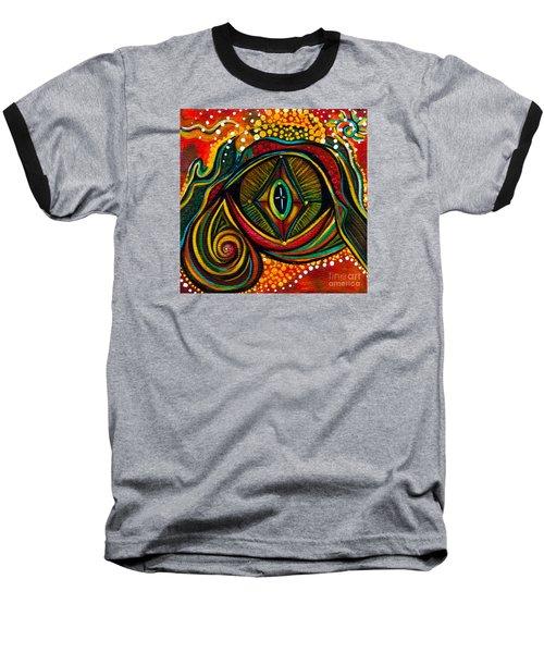 Baseball T-Shirt featuring the painting Kindness Spirit Eye by Deborha Kerr