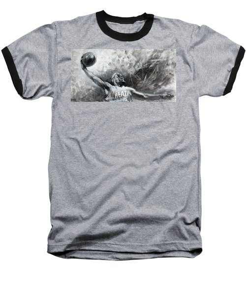 King James Lebron Baseball T-Shirt by Ylli Haruni