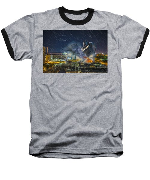 Baseball T-Shirt featuring the photograph King Kong By Ford Field by Nicholas  Grunas