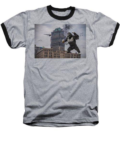 Baseball T-Shirt featuring the photograph King Kong In Detroit At Wurlitzer by Nicholas  Grunas