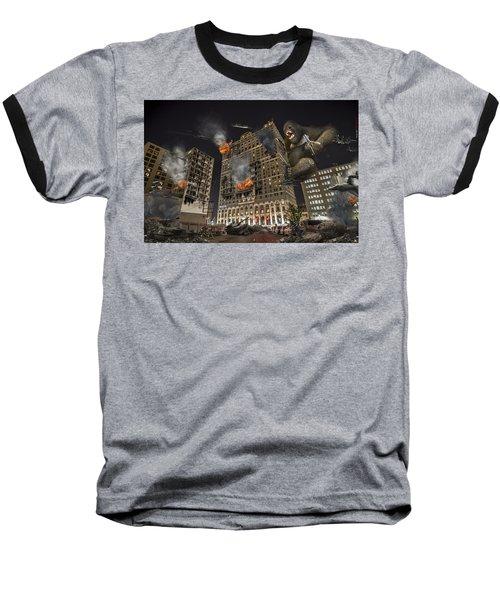 Baseball T-Shirt featuring the photograph King Kong In Detroit Westin Hotel by Nicholas  Grunas