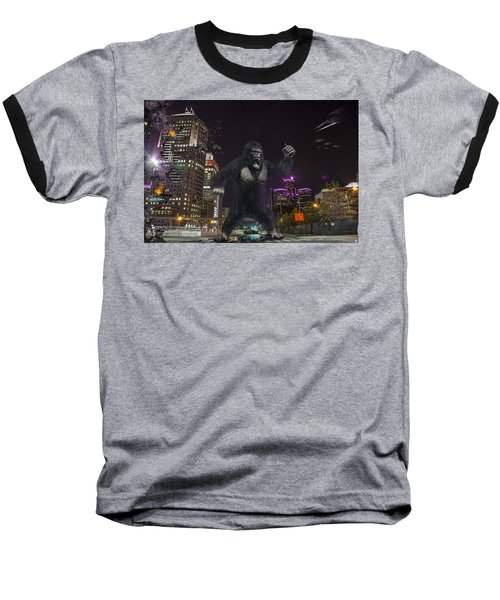 Baseball T-Shirt featuring the photograph King Kong On Jefferson St In Detroit by Nicholas  Grunas