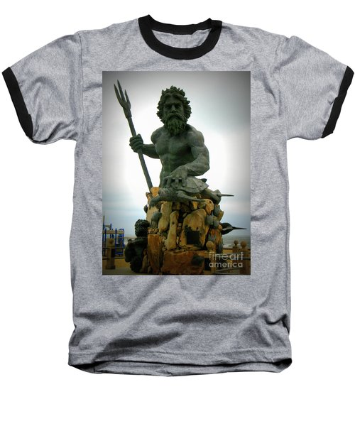 King Neptune Statue Baseball T-Shirt